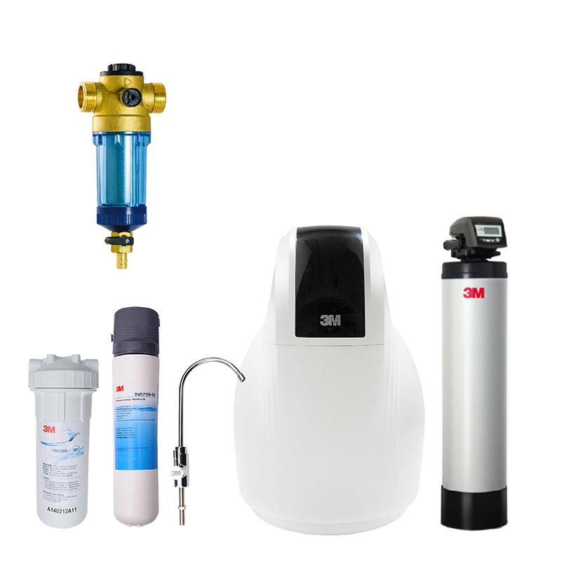 3M前置过滤器CP-F020-5+3M中央净水机CTS100+3M软水机SFT-150+3M净水器DWS2500-CN全屋净水 (适合200平米左右全屋使用)