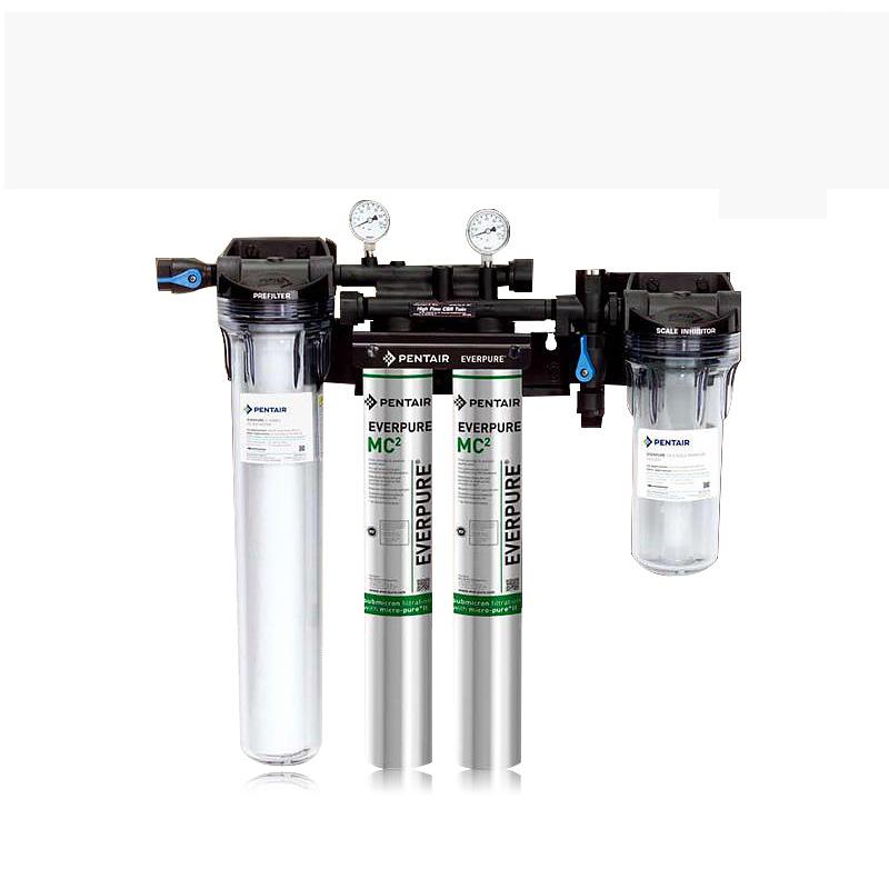 爱惠浦MC2双联款带前置透明瓶后置小白熊商用净水机